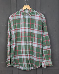 Checked flannel shirt L Item867
