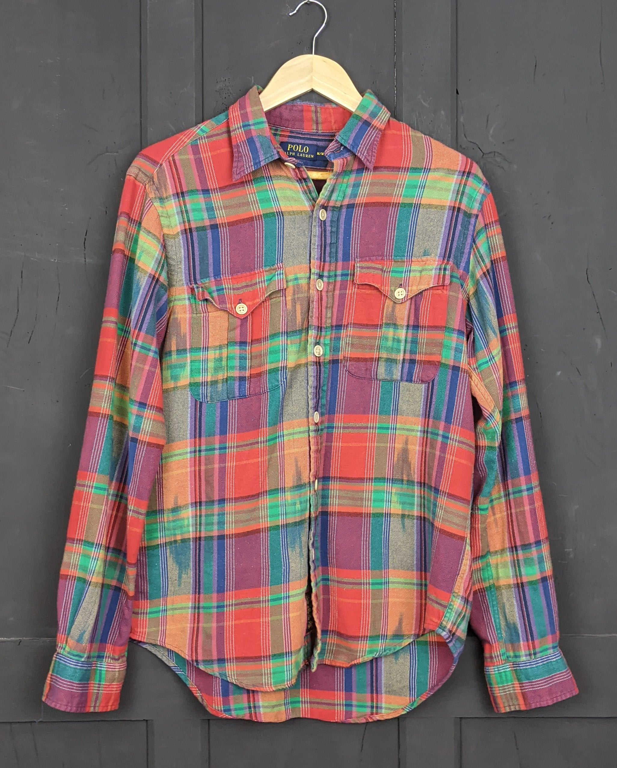Ralph Lauren Polo flannel checked shirt S/M Item844