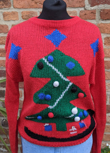 Awesome acrylic chunky Christmas jumper size M item 887