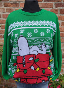 Snoopy poly acrylic Christmas jumper size L/XL item 896