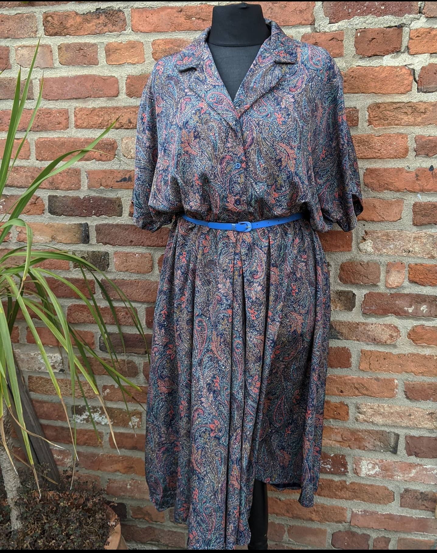 Silky handmade midi dress 16/18