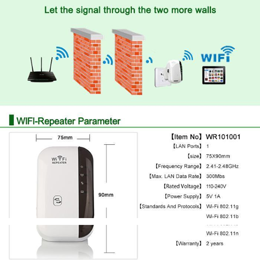 Mini WiFi Repeater - Pro Internet Signal Booster