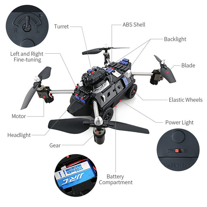 H40WH 720P HD RC Quadcopter Car Helicopter Drone