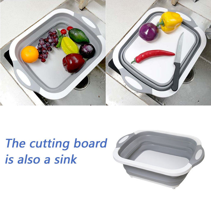 Foldable Multi-Functional Chopping Board