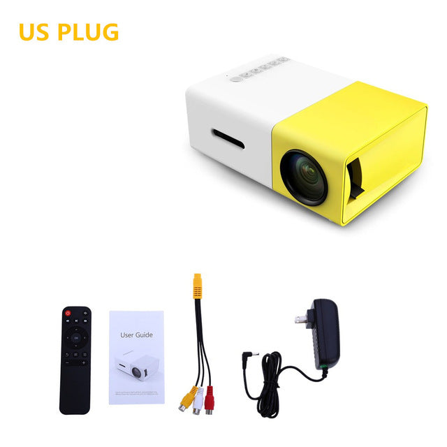 LCD Portable Mini Projector for Home Theater Media Player