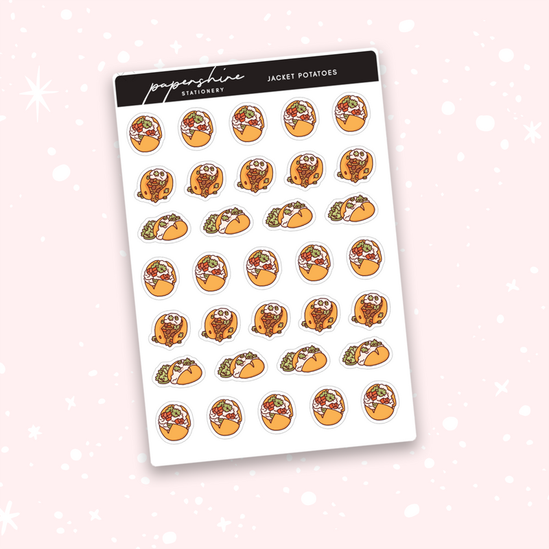 Jacket Potatoes Doodle Stickers