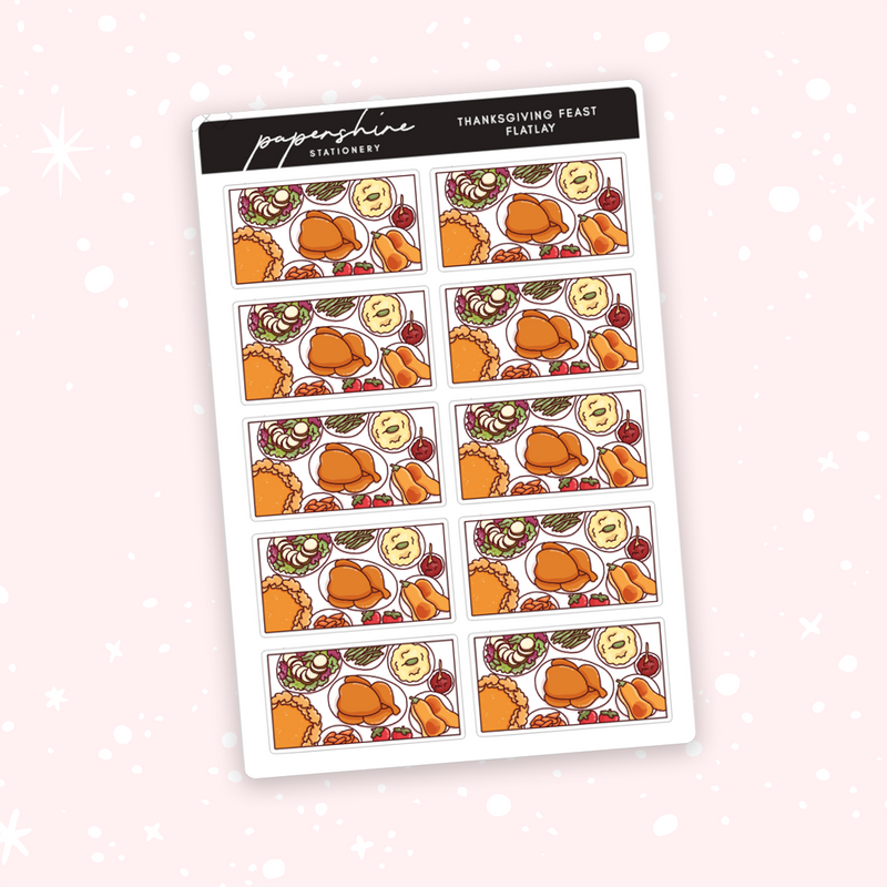 Thanksgiving Feast Flatlay Stickers