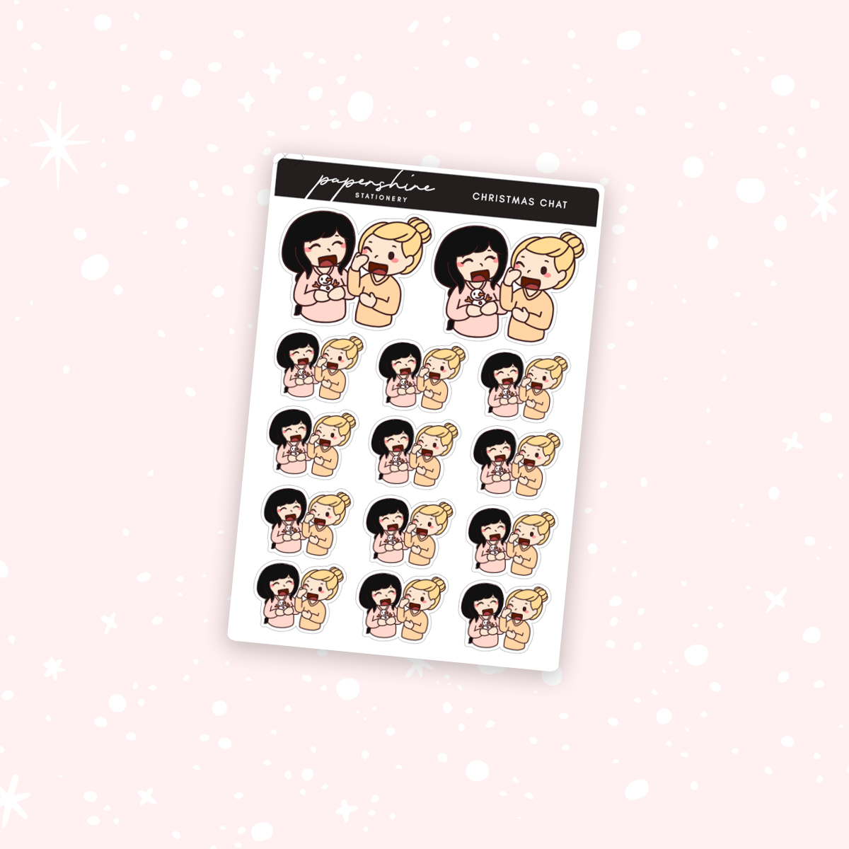 Christmas Chat Nana Stickers