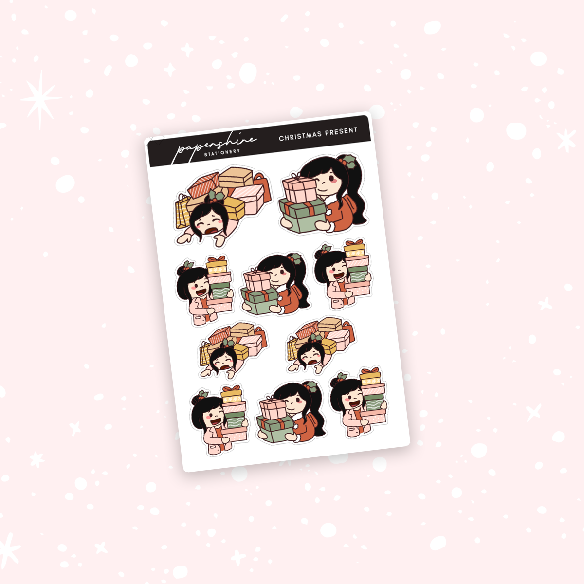 Christmas Presents Nana Stickers