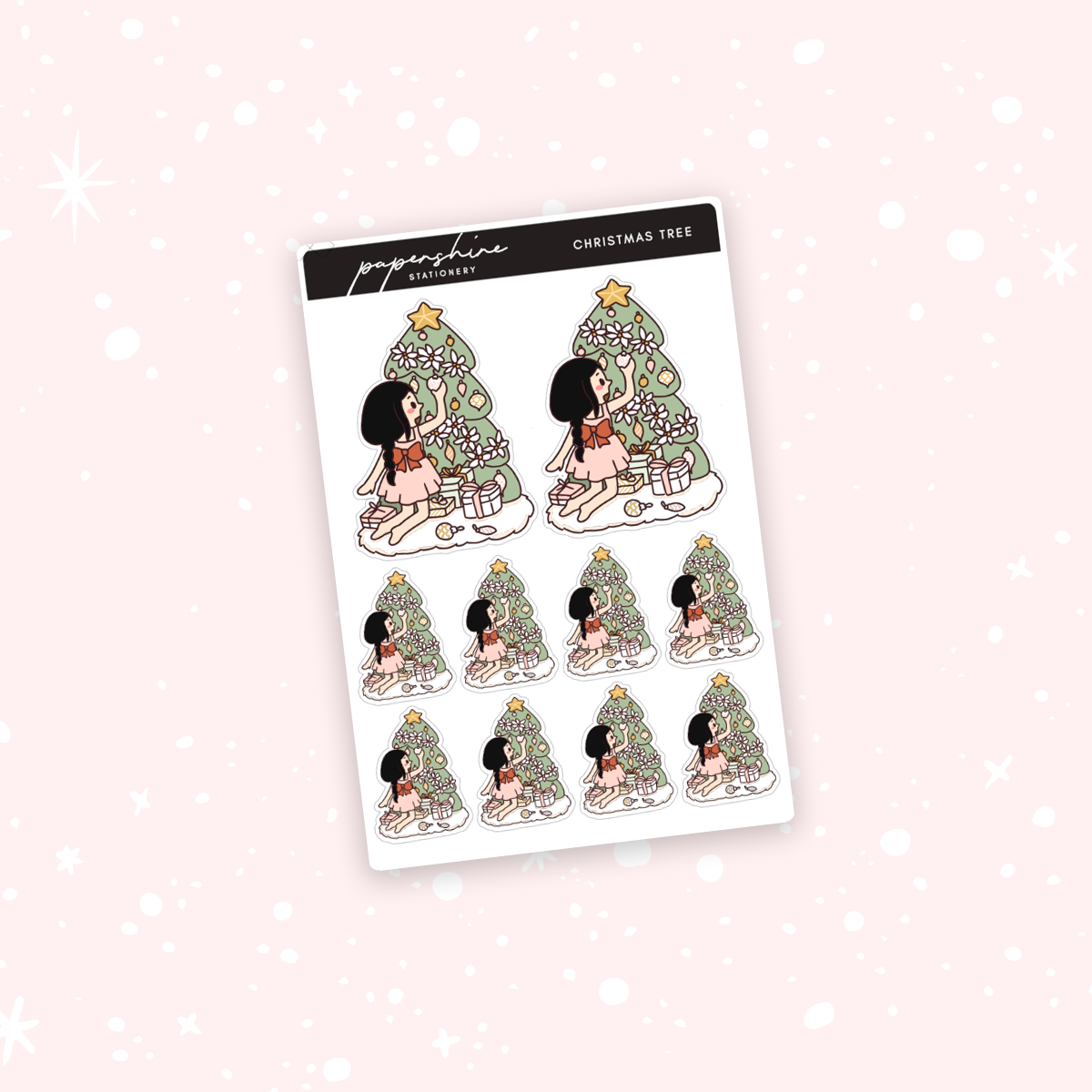 Christmas Tree Nana Stickers