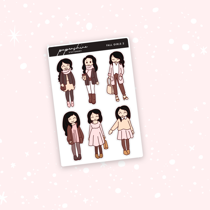 Fall Girls Nana 2 Stickers