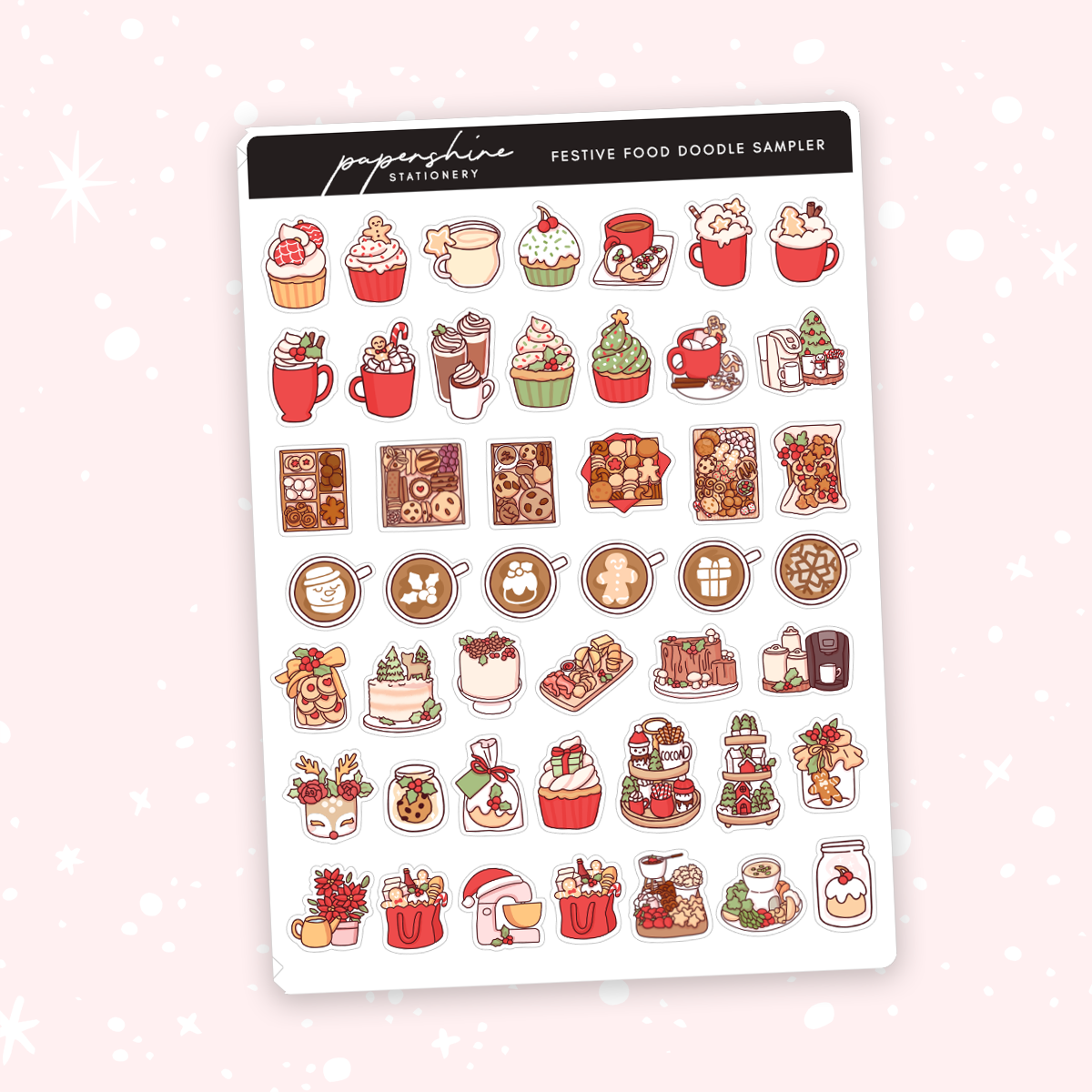 Festive Food Doodle Sampler Stickers
