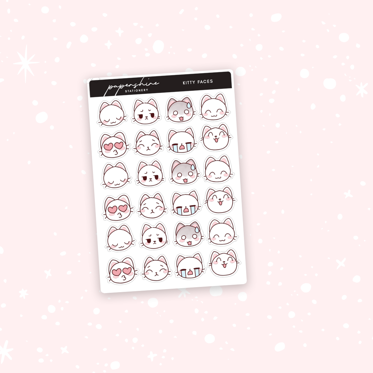 Kitty Faces Stickers