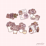 Peonies Digital Set