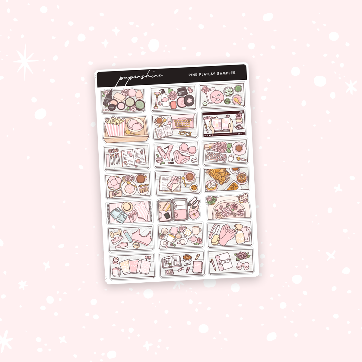 Pink Flatlay Sampler Stickers