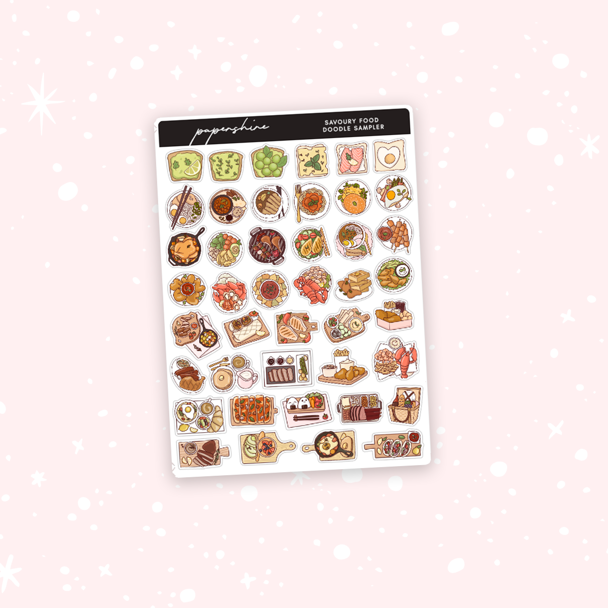 Savoury Food Sampler Stickers