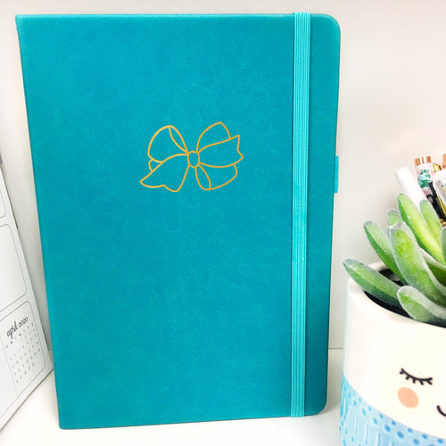 Bow Teal A5 Dot Grid Journal