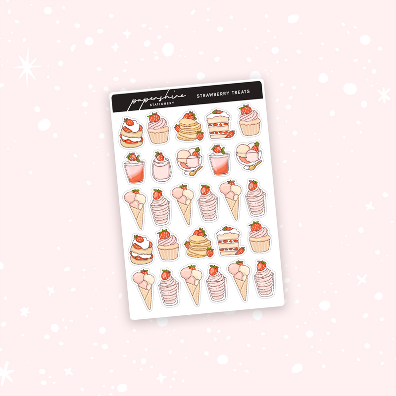 Strawberry Treats Doodle Stickers