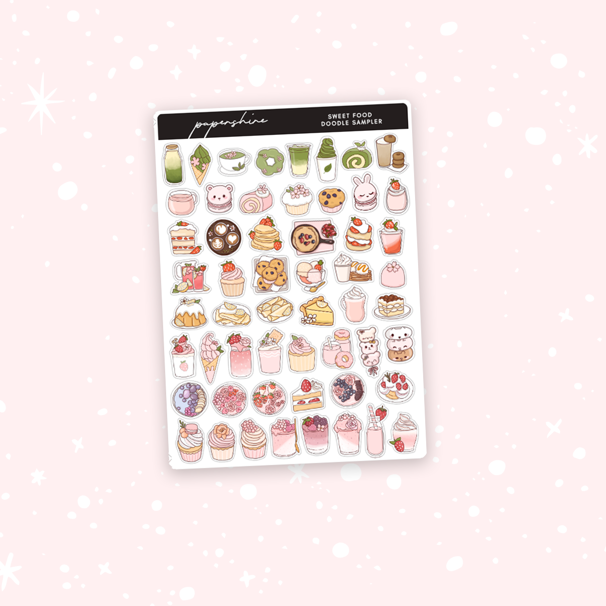Sweet Food Sampler Stickers