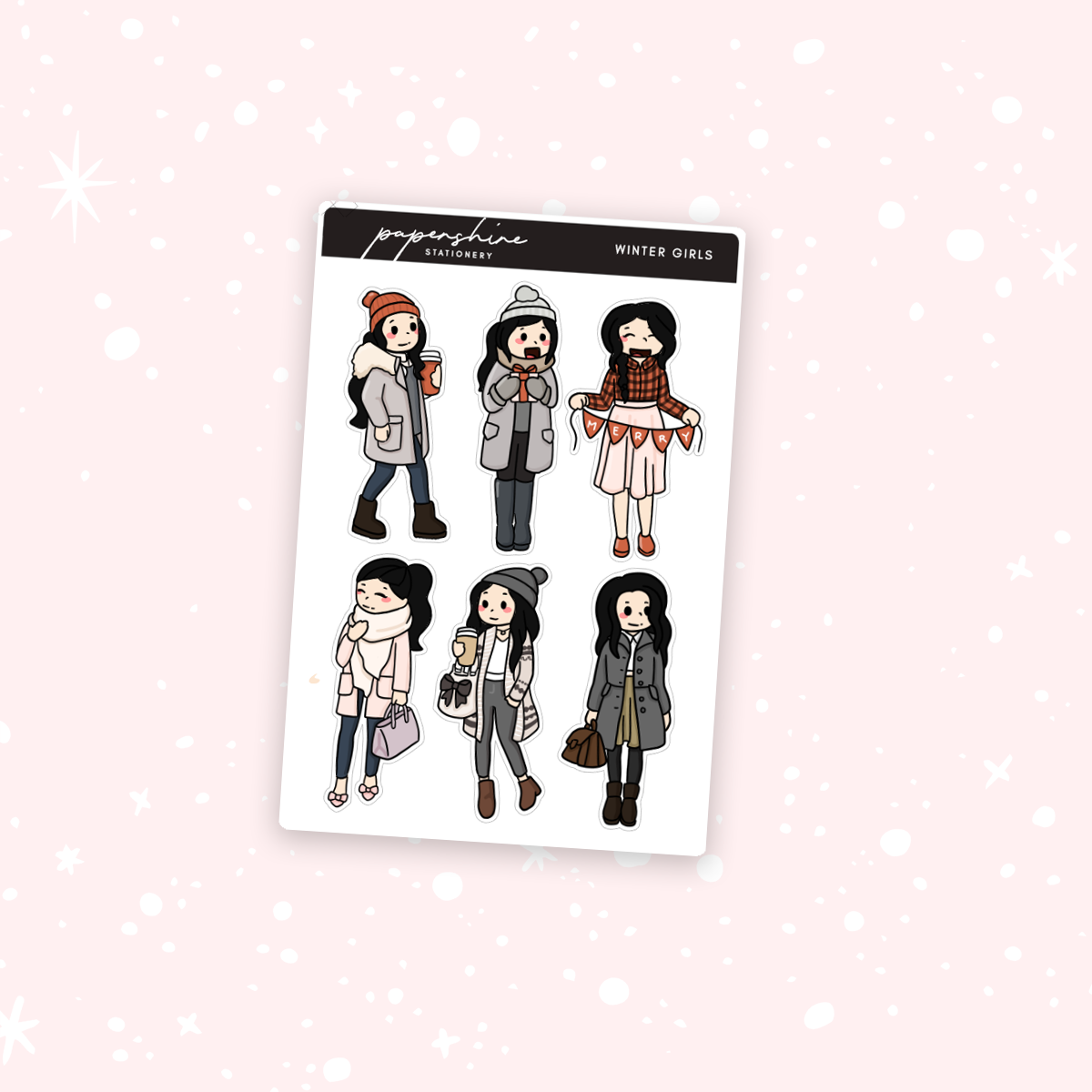 Winter Girls Nana Stickers