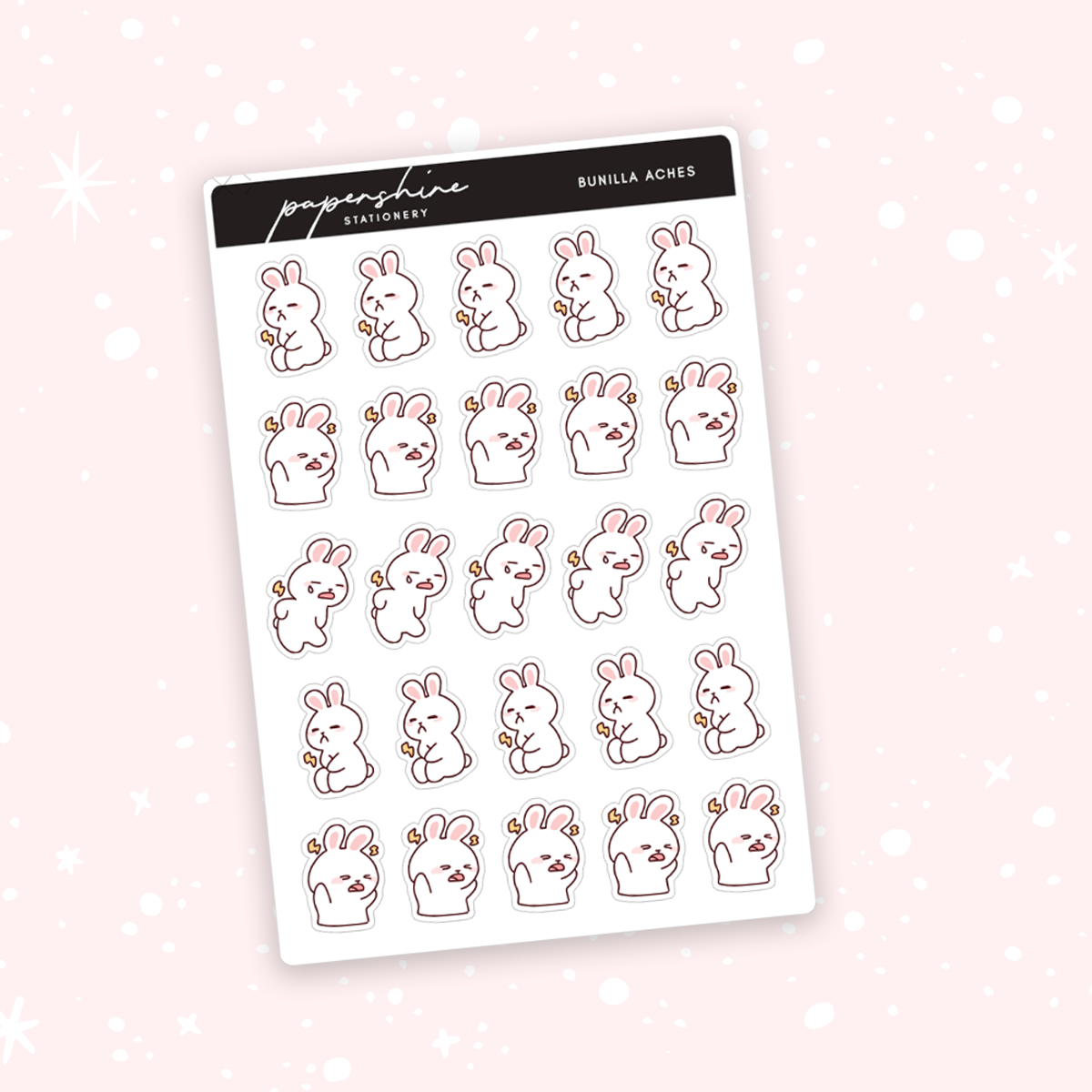 Bunilla Aches Doodle Stickers