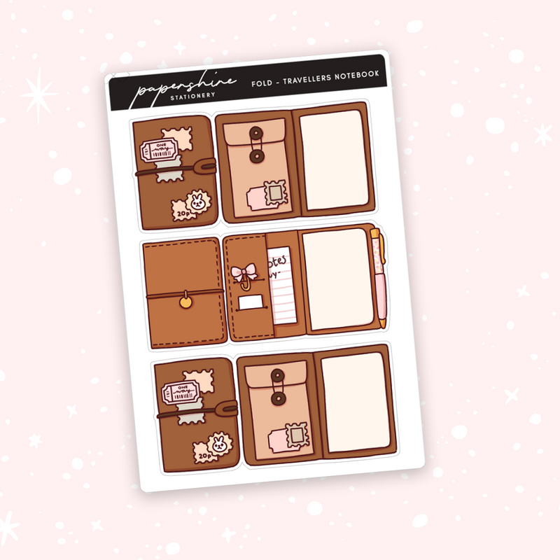Foldable - Travellers Notebook Doodle Stickers