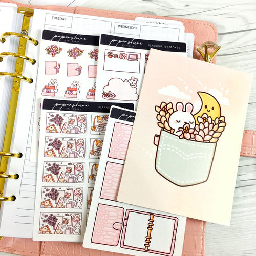 Floral Bunilla Digital Set & Free Croc Planner Bundle