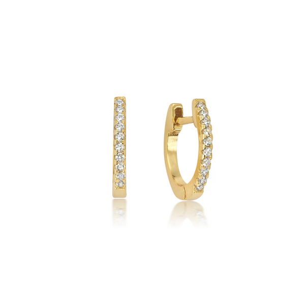 The marina inlet huggie earrings for women