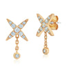 Gold diamond earrings for women Pavè Shaker Studs