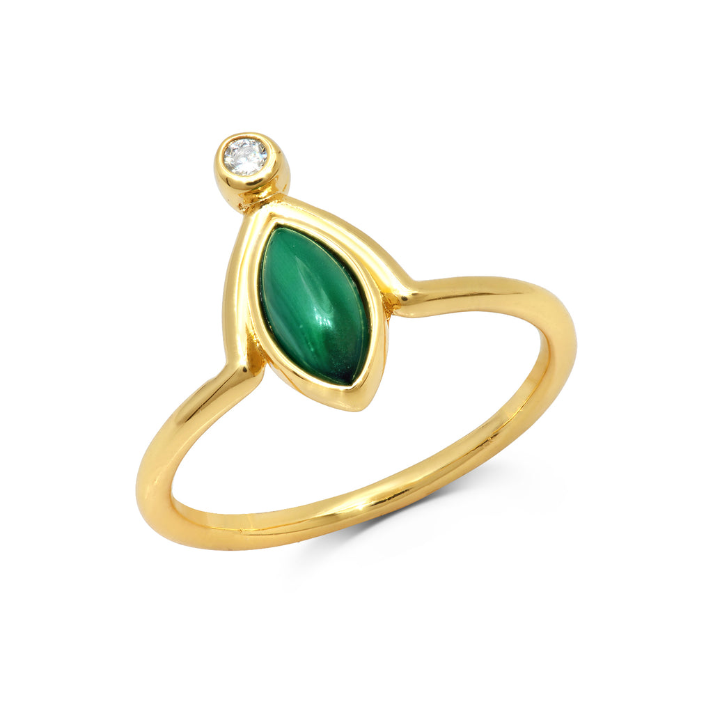 Malachite Eclipse Ring