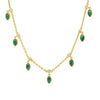Malachite Eclipse Shaker Necklace