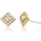 gold diamond stud earrings for women holiday gift ideas