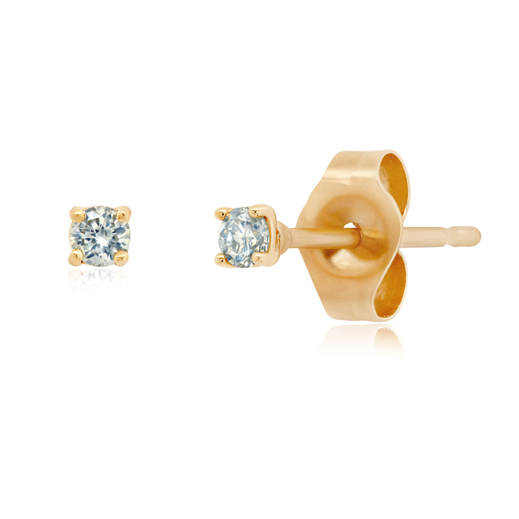 Diamond gold stud earrings for men and women