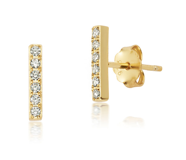 Diamond mini bar studs