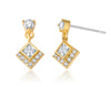 Gold diamond earrings for women holiday gift ideas sale