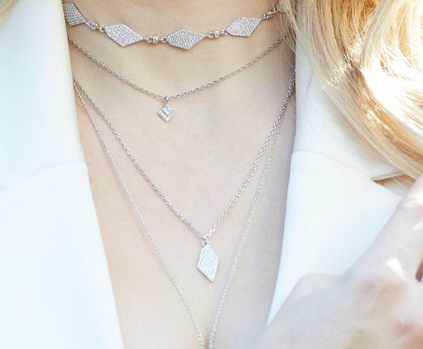 Pavé Diamond Pendant Stardance collection  | Ambyr Childers