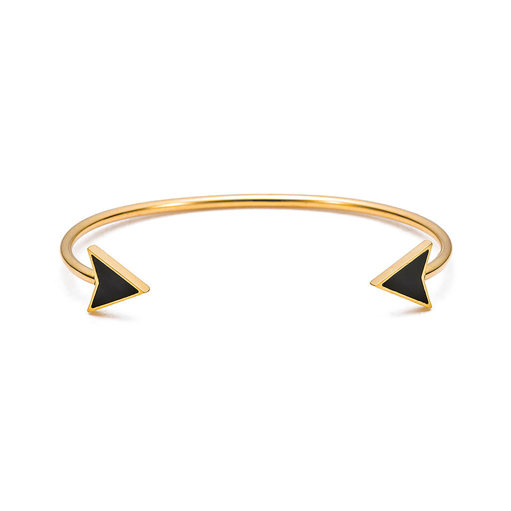 Obsidian cuff bracelet gold for women | Ambyr Childers Jewelry