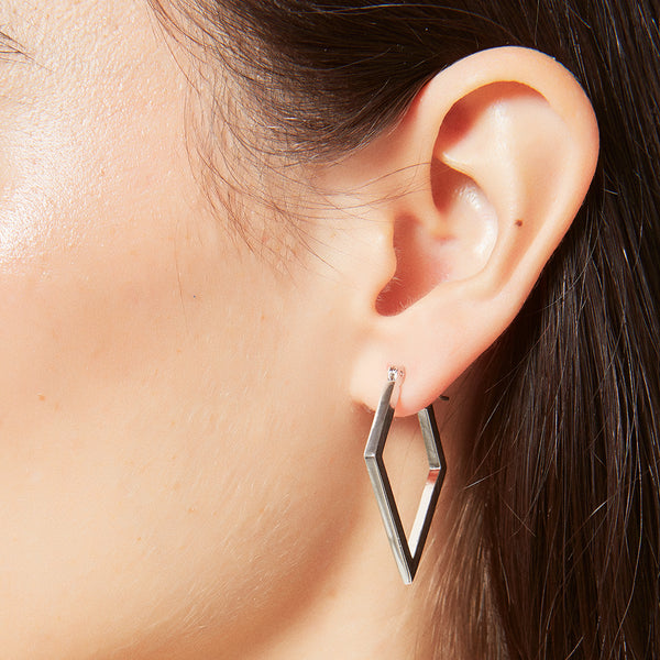 Medium hoop earrings for women