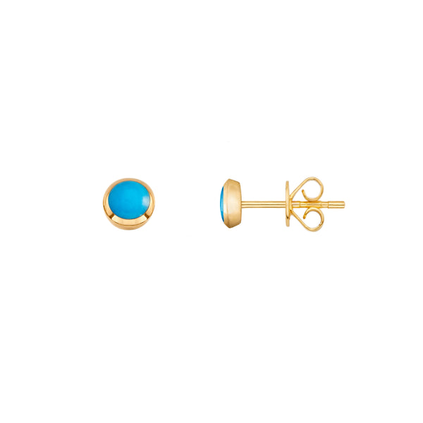 Single Turquoise Sphere Stud