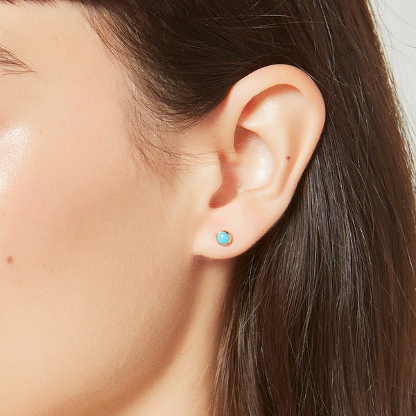 Turquoise Sphere Studs