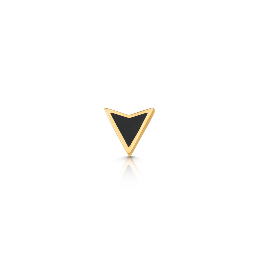 Single Obsidian Arrowhead Stud