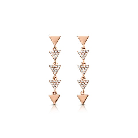 Pavé Arrow Drop Earrings