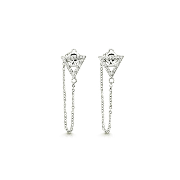 Tee Pee Chain Earrings