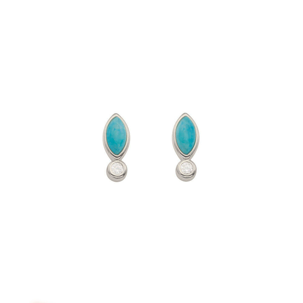 Turquoise Skye Studs for women