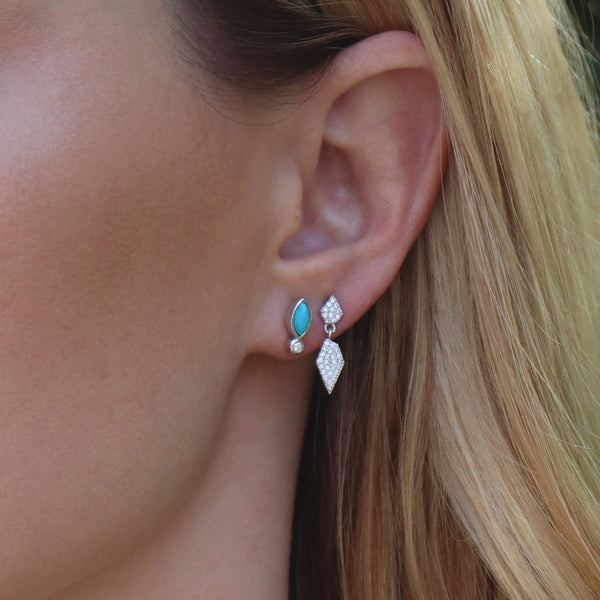 Turquoise Skye Studs Ambyr Childers Jewelry