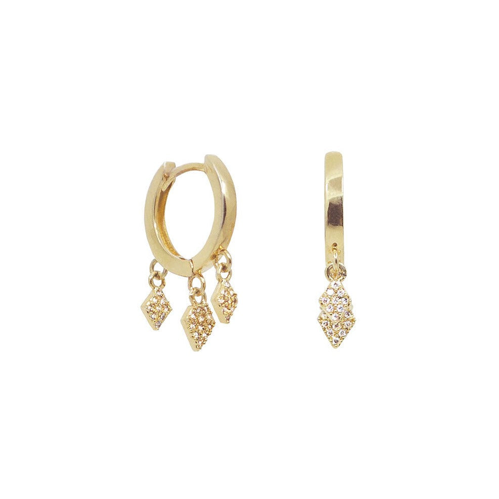 14k gold huggie earrings | Ambyr Childers Jewelry