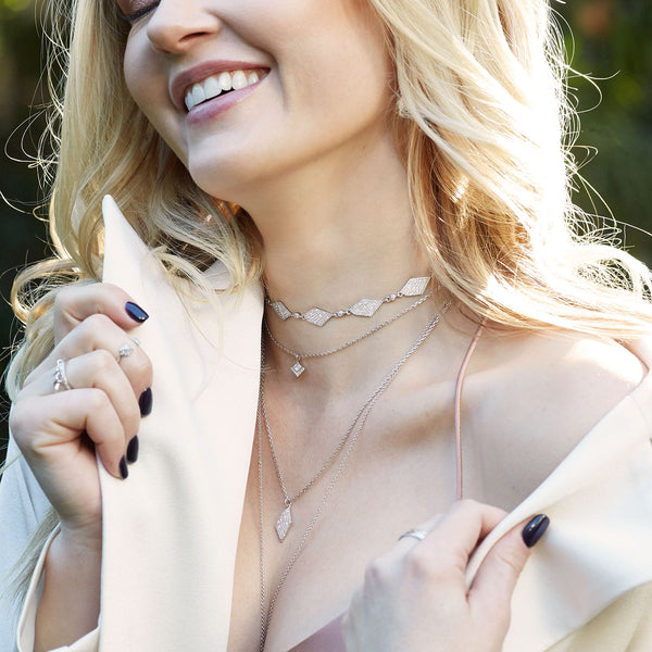 Gold choker necklace set | Ambyr Childers