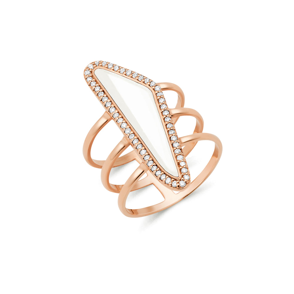 Bone Halo Slice Ring new design for female | Ambyr Childers Jewelry