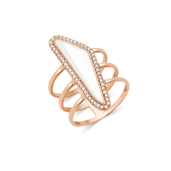 Halo Bone Slice Ring