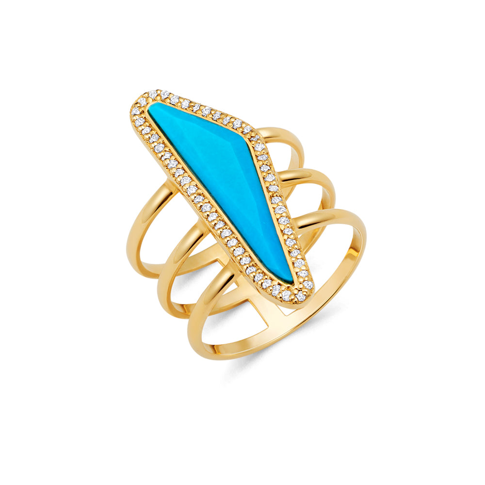 Turquoise Gold Ring | Ambyr Childers Jewelry